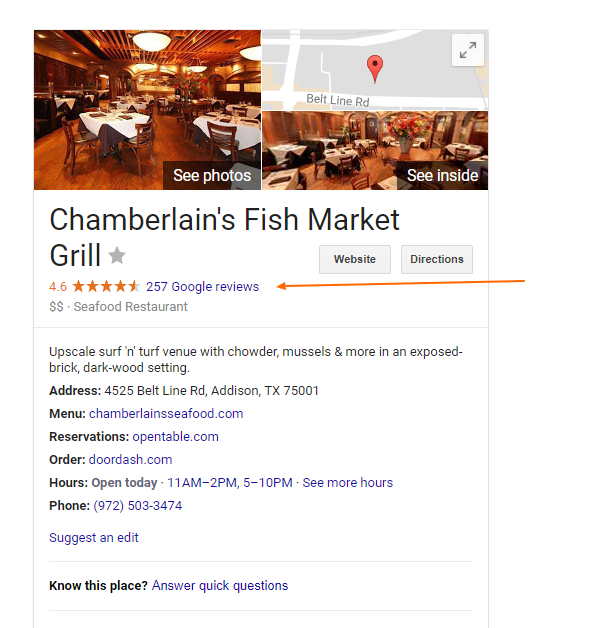 Reviews For Chamberlain's Steak and Chop